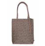 Zusss 0205-007-1527 basic shopper met kwast zand gespikkeld