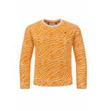 Looxs Revolution Badstof sweater met zebra print voor meisjes in de kleur