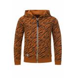 Common Heroes Sweater met hood animal print voor jongens in de kleur