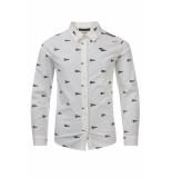 Common Heroes Stretch poplin blouse off/white voor jongens in de kleur