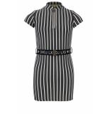 Looxs Revolution Slim-fit jurk met riem voor meisjes in de kleur
