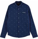 Scotch & Soda Regular fit shirt classic fil coup poche