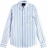 Scotch & Soda Relaxed fit shirt in yarn-dyed blue&white striped