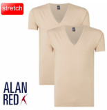 Alan Red t-shirt extra diepe v-hals 2 pack nov -