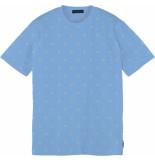 Scotch & Soda Classic cotton-elastane crewneck tee blue
