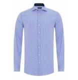 Sleeve7 Heren overhemd licht geruit contrast poplin modern fit