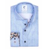 R2 Amsterdam Overhemd blauw met contrast 112.wsp.052/018