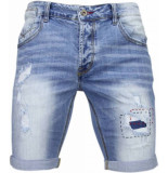 Enos Korte broeken slim fit denim summer vibe