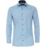 Casamoda Heren overhemd turquoise oxford navy contrast comfort fit
