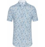 Desoto Overhemd paisley print korte mouw cutaway slim fit