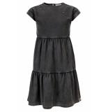 Looxs Revolution Antraciet jogg denim jurk garment dye voor meisjes in de kleur