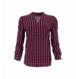 MAICAZZ Sanell blouse sp21.20.003 fuchsia triangle