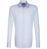 Seidensticker Heren overhemd licht fil-à-fil kent tailored fit