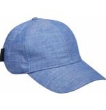Scotch & Soda Classic cotton/linen 6-panel cap seaside blue mela