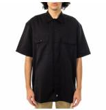 Dickies Camicia uomo short sleeve work shirt dk001574blk