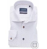 Ledûb Ledûb heren overhemd midden print twill widespread modern fit