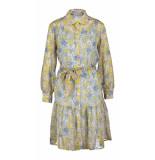 Due Amanti Sibilla white blue jurk