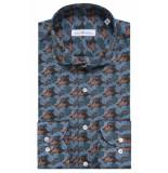 Dutch Dandies Slim fit overhemd met lange mouwen