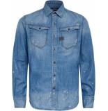 G-Star Arc 3d slim shirt l\s blue denim