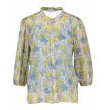 Due Amanti White blue blouse