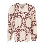 Herzen's Chain print blouse ecru