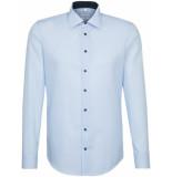 Seidensticker Heren overhemd contrast poplin kent tailored fit