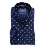 Ledûb Ledûb heren overhemd discover poplin button-down modern fit