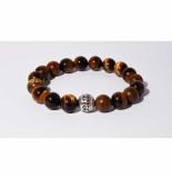 Mr.FRILL Handmade bracelets tiger eye stone brown