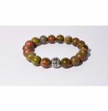 Mr.FRILL Handmade bracelets unakite stone green