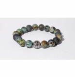 Mr.FRILL Mr. frill handmade bracelet african jasper stone green