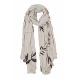 Zusss 0307-011-7013 fijne sjaal met bladprint