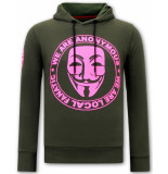 Local Fanatic Hoodie print we are anonymous