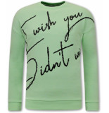 Tony Backer Sweater met tekst mint