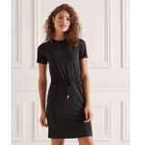 Superdry Drawstring t-shirt dress black