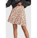 Alix The Label 2103242826 ladies woven fresh flower short skirt