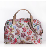 Oilily Weekender royal sits oatmeal-