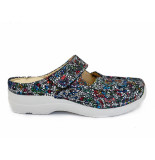 Wolky Multi color slippers roll mosaic suede