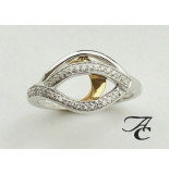 Atelier Christian Bicolor gouden ring met briljanten