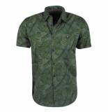 Twinlife heren korte mouw overhemd jungle -