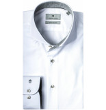 Thomas Maine Heren overhemd grijs contrast fine twill tailored fit