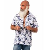 Amsterdenim Overhemd am2101-402 douwe hawaii