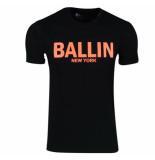 Ballin Est. 2013 heren t-shirt regular fit zwart neon oranje