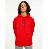 Tommy Hilfiger Dm0dm10208 timeless hooded sweater xnl deep crimson jeans