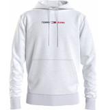 Tommy Hilfiger Dm0dm10190 straight hoodie p1i white jeans