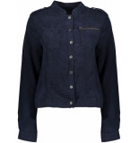 Geisha Linnen jeans jacket navy