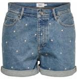 Only Josie life hw emb dnm shorts blue de