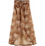 Maison Scotch Organic cotton printed skirt with carmel
