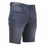 Brams Paris heren korte broek jeans stretch model jordy denim grey
