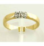 Christian Bicolor ring met 2 diamanten