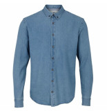 Kronstadt Heren overhemd johan licht denim stretch regular fit
